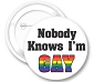 Nobody Knows I'm Gay Button