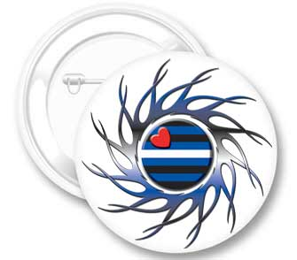 Eye of the Storm Leather Pride Button