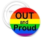 Out & Proud Button