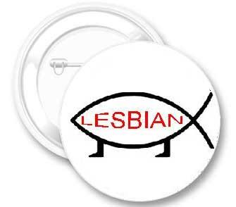 Lesbian Fish Button