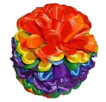 Rainbow Floral Clip