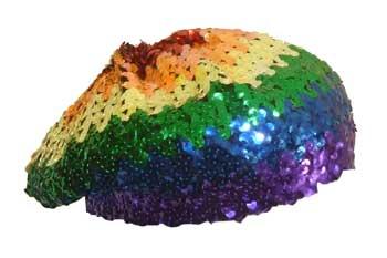 Rainbow Sequin Cap/Beanie