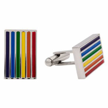 Rainbow Gay Pride Stainless Steel Cufflinks