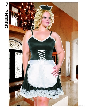 3 pc diva frisky french maid dress