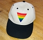 Rainbow Triangle Embroidered Creme & Black Cap / Hat