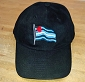 Leather Pride Wavy Flag Embroidered Black Cap / Hat