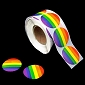 Rainbow Circle Stickers (500 stickers)