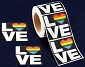 LOVE (Rainbow Heart) Stickers (250 stickers)