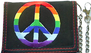 Rainbow Peace Sign Wallet