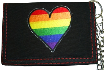 Rainbow Heart Sign Wallet