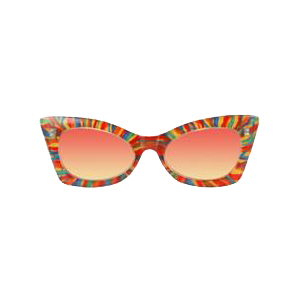 Rainbow Cheetah Glasses