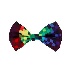 Rainbow Pixel Bow Tie
