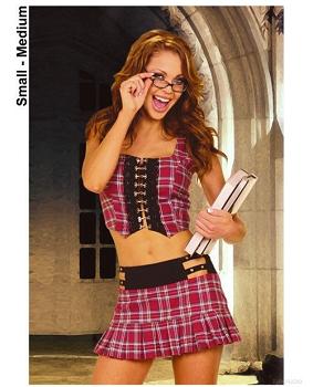 2 pc school girl, pleated mini