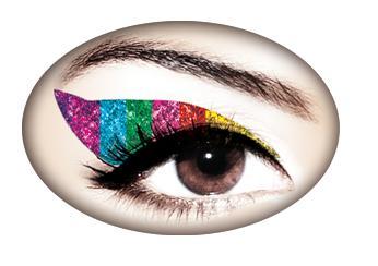 Rainbow Glitter Eye Appliques