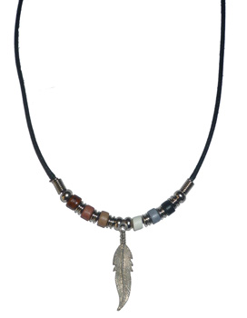 Bear Pride Feather Necklace