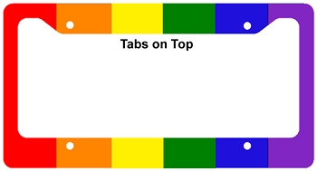 Rainbow Vertical Stripes License Frame
