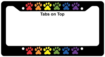 Rainbow Paws License Plate Frame