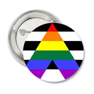 Straight Ally Pride Button