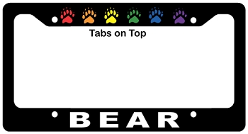 Bear Claws License Plate Frame
