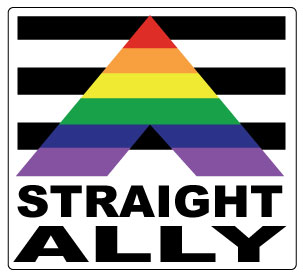 Straight Ally Sticker