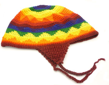 Rainbow Knit Cap