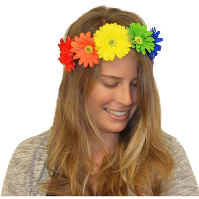 Rainbow Daisy Headband