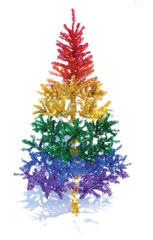 Rainbow Metallic Christmas Tree