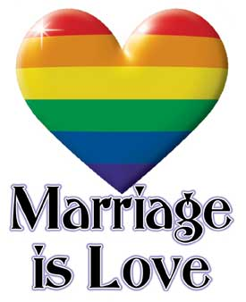 Marriage is Love Sticker
