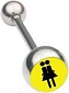 Double Female Sign Barbell Jewelry