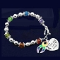 Rainbow Bracelet Live And Let Love Charm