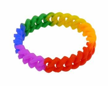 Rainbow Silicone Chain Link Bracelet