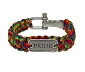 Rainbow Paracord Bracelet with PRIDE Emblem