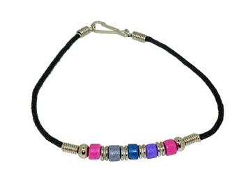 Bi Pride Ceramic Bead Bracelet