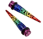Rainbow Star Taper Ear Plugs (4 gauge only)