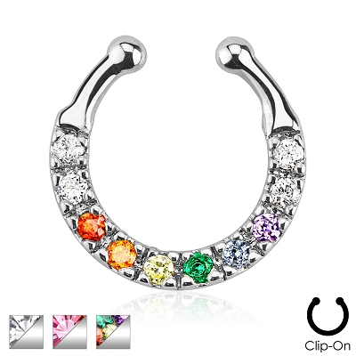 Rainbow Septum Hanger (non-piercing)