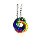 Rainbow Entwined Rings Necklace