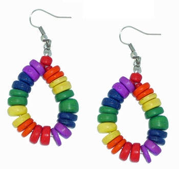 Rainbow Bead Earrings