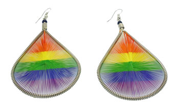 Rainbow Threaded Earrings