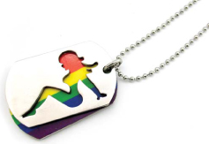 Rainbow Hot Chick ID Tag/Necklace
