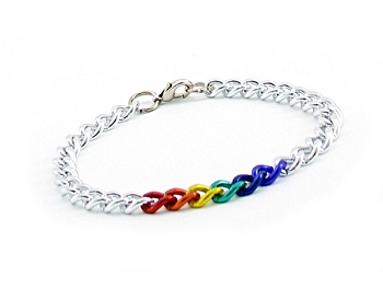 Silver & Rainbow Chain Necklace