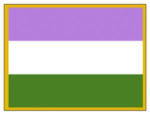GenderQueer Pride Lapel Pin