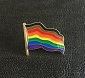 People of Color (POC) Wavy Flag Lapel Pin