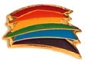 Rainbow Abstract Lapel Pin