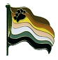 Bear Pride Wavy Flag Lapel Pin