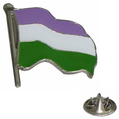 Gender Queer Wavy Flag Lapel Pin