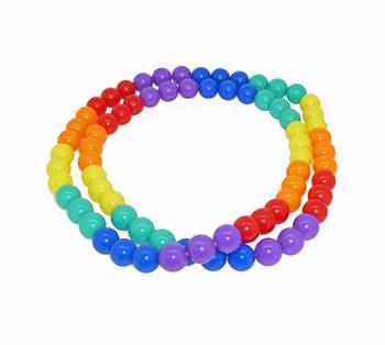 Rainbow Bead Necklace (or wrap Bracelet)