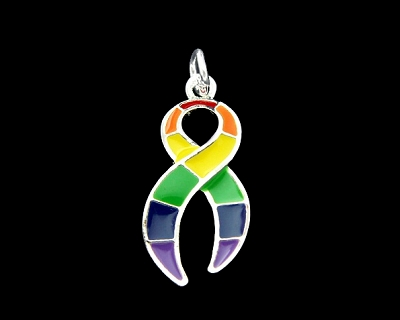 Rainbow Ribbon Charm