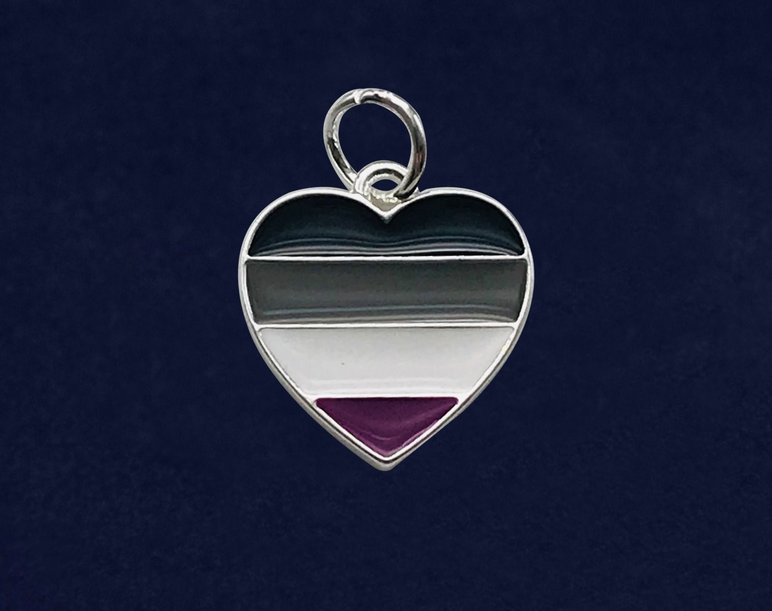 ASexual Pride Heart Pendant