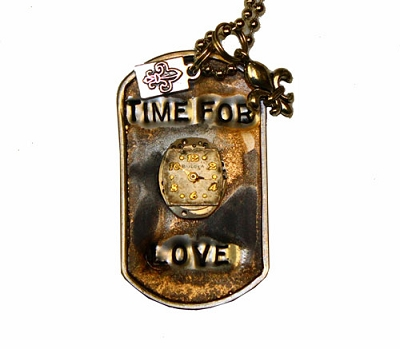 Time For Love Metal ID Tag / Necklace