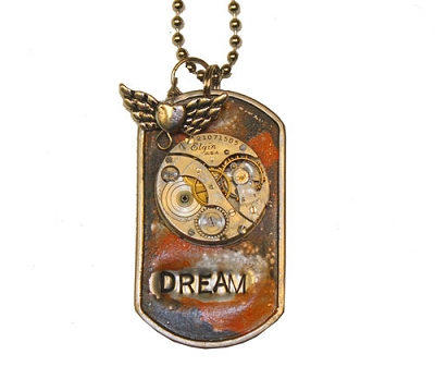 Time to Dream Metal ID Tag / Necklace